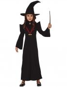 Hexen-Kostüm für Mädchen Magie-Professorin Kleid und Hut schwarz