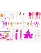 Prinzessin-Deko-Set Kindergeburtstag 31-teilig pink-gold