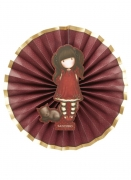 Ruby Santoro™-Fächer Partyanimation 3 Stück rot-gold