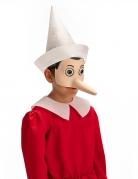Pinocchio™-Augenmaske für Erwachsene Faschingsmaske beige