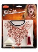Blutige Halskette Schmink-Set für Damen Halloween-Make-up rot-weiss