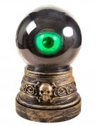 Sehendes Auge animierte Halloween-Partydeko gold-grün 20 cm