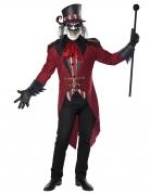 Gruseliger Dompteur-Kostüm für Herren rot-schwarz-weiss
