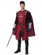 Ritter-Kostüm für Herren schwarz-rot