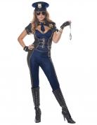 Polizei-Kostüm für Damen sexy Faschingskostüm blau