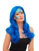 Pfau-Schminkset Karnevalsschminke blau