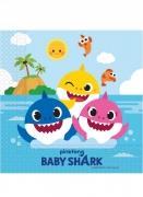 Baby Shark™-Servietten Kindergeburtstag-Deko 20 Stück bunt 33x33 cm