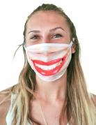 Lippenstift-Gesichtsmaske Mund-Nasen-Maske beige-rot