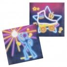 Groovige Disco Fever-Servietten 12 Stück bunt 33 x 33 cm