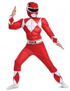Offizielles Power Rangers™-Kostüm für Kinder rot-weiß-schwarz