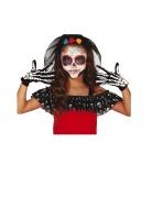 Skeletthandschuhe für Kinder schwarz-weiß