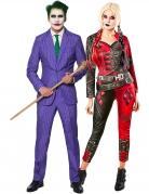 Harley Quinn™ und Joker™-Paarkostüm Suicide Squad 2™ Suitmeister™ schwarz-rot-lila-grün