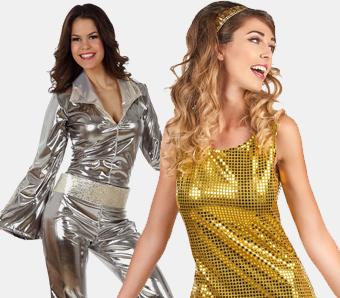 70er-Mottoparty-Kostüme für Damen