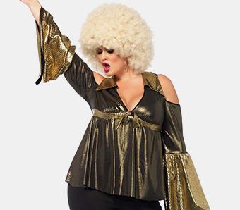 70er-Outfits für Damen in großen Größen