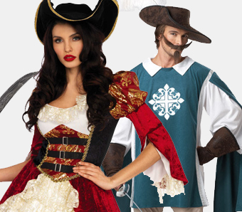 Barock-Kostüme für Fasching