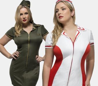Berufskostüme für Damen in großen Größen