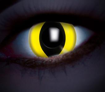 Farbige Kontaktlinsen für Mottopartys