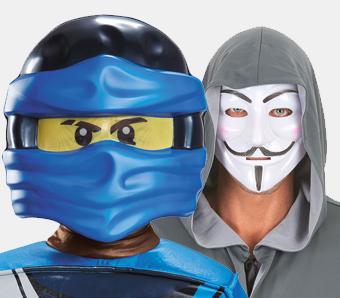 Halbmasken zum Fasching
