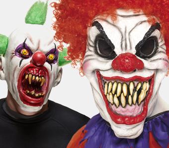 Halloween-Horrorclown-Masken