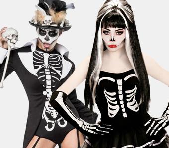 Halloween-Skelettkostüme für Damen