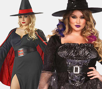Hexen-Kostüme in großen Größen