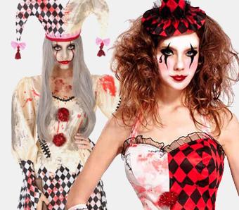 Horror-Clown-Kostüme für Damen