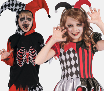 Horror-Clown-Kostüme für Kinder