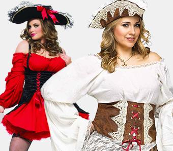 Piratenkostüme für Damen in großen Größen