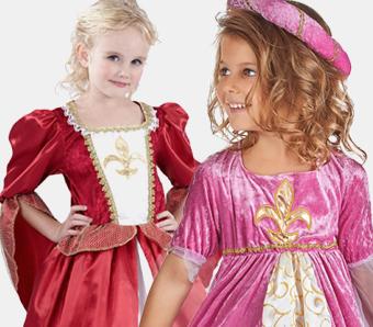 Prinzessinnen-Kostüme für Mädchen