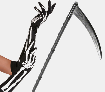 Skelett- & Sensenmann-Accessoires