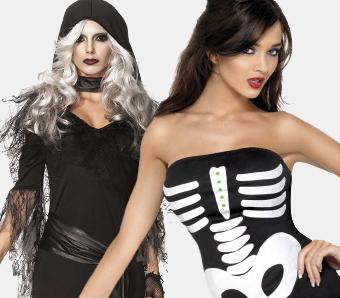 Skelett- & Sensenmann-Kostüme für Damen