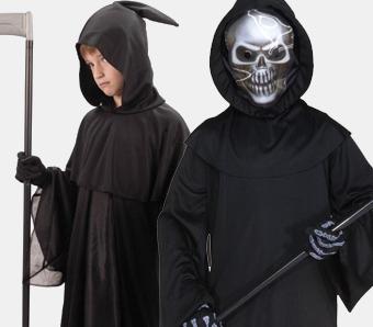 Skelett- & Sensenmann-Kostüme für Kinder