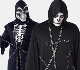 Skelett- & Sensenmann-Kostüme in großen Größen