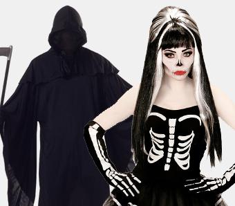 Skelett- & Sensenmann-Kostüme