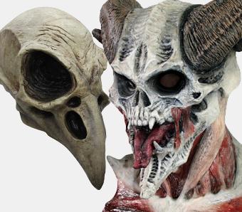 Skelett- & Sensenmann-Masken