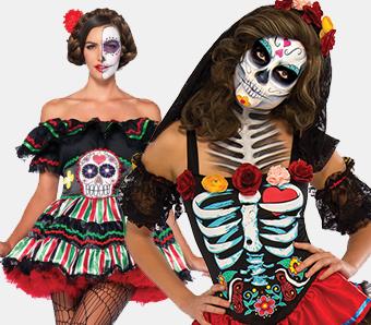 Tag der Toten Kostüme für Damen