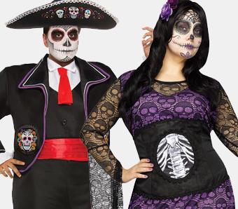 Tag der Toten Kostüme in großen Größen