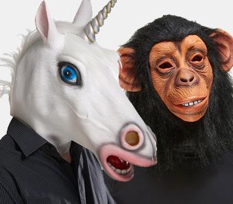 Tier-Masken zum Fasching