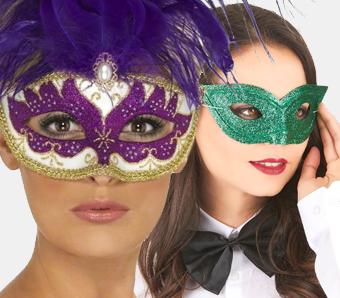 Venezianische Masken für Fasching