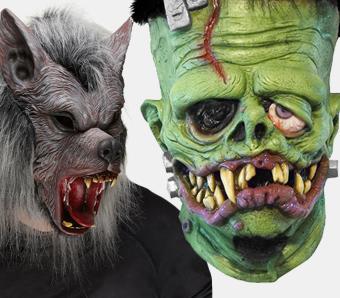 Werwolf- & Monster-Masken