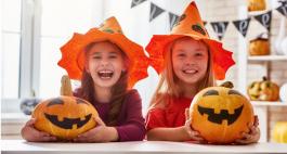 Halloween-Rätsel für Kinder: Gitterrätsel und Labyrinth
